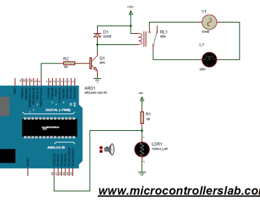 light sensor and street light control using Arduino