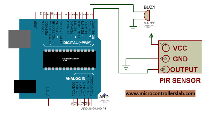 circuit diagram of PIR sensor