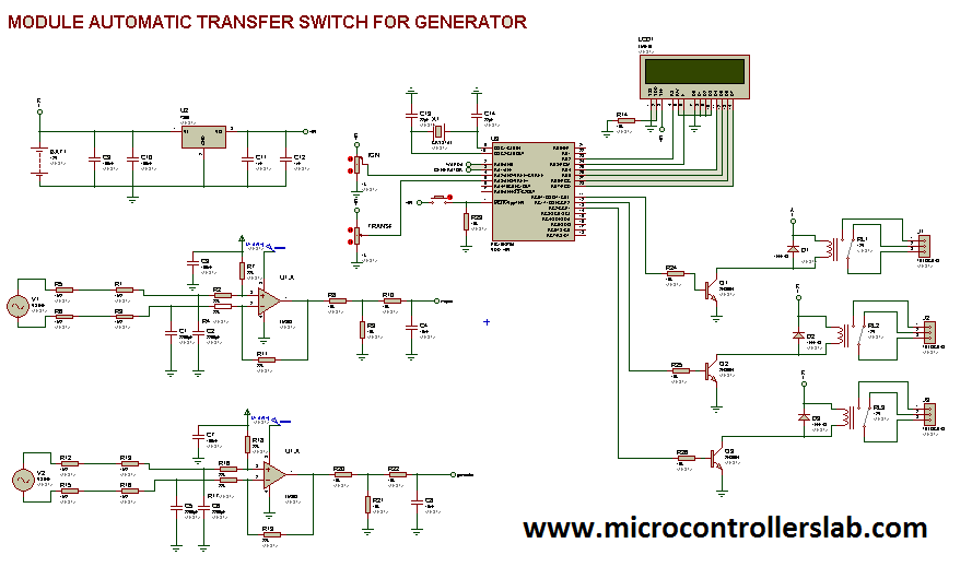 automatic transfer switch using pic microcontroller Manual Transfer Switch Wiring Diagram Residential Transfer Switch Wiring Diagram