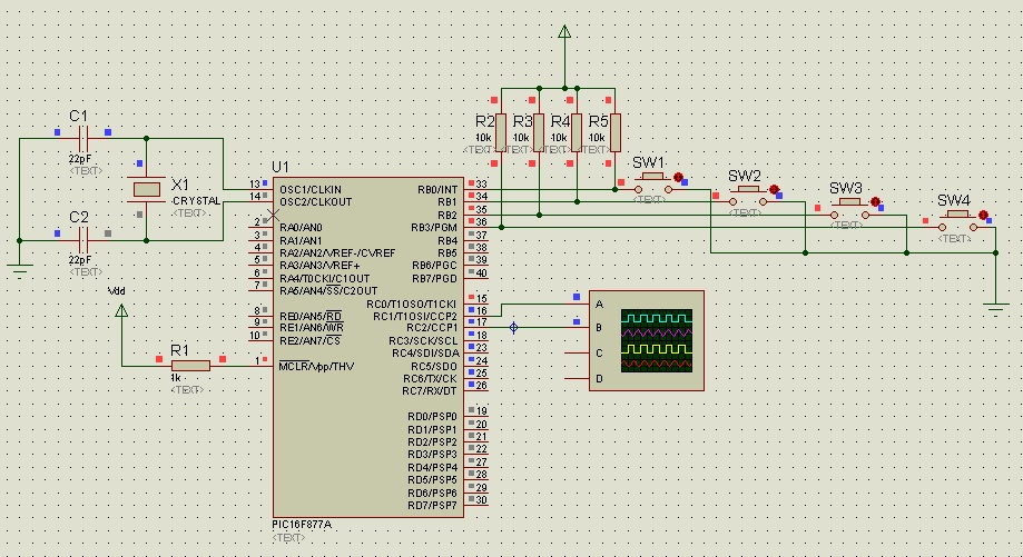 PWM using pic16f877a microcontroller