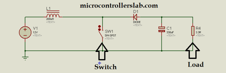 circuit diagram of boost dc to dc converter