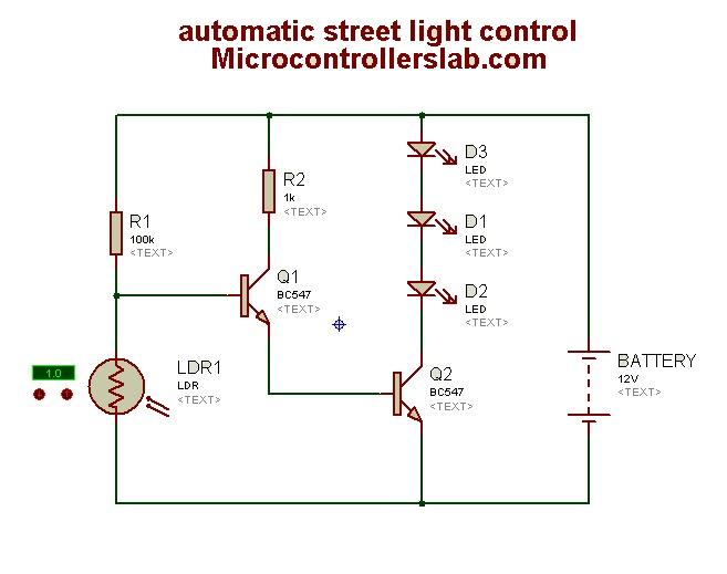 Automatic Street Light Control Circuit Diagram