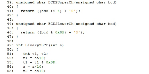 digital clock code part2