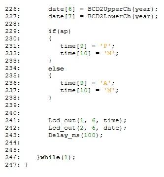digital clock part 9
