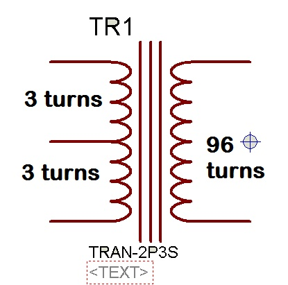 Ferrite transformer turns calculation with example