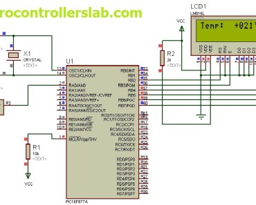 MCP9700 interfacing with pic microcontroller