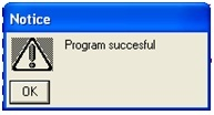 Program successful