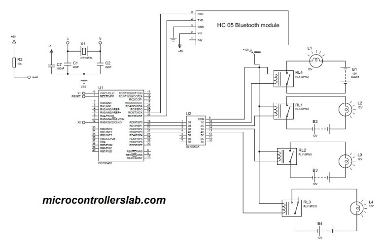 Bluettoth based home automation system usiung pic microcontroller