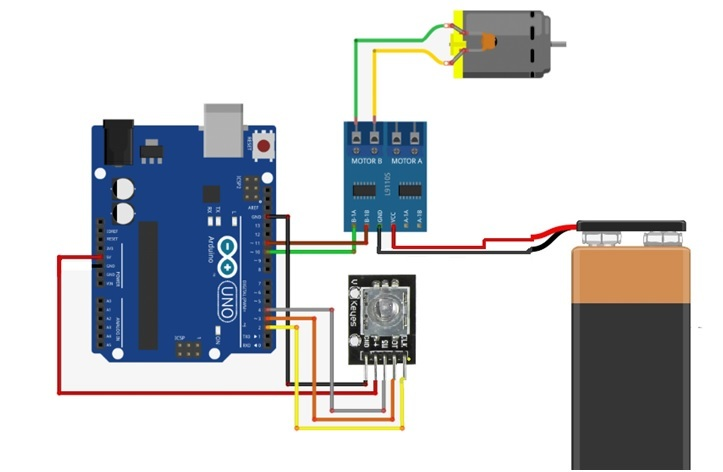 rotary encoder interfacing with arduino | dc motor speed control