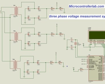 three phase voltage measurement using pic microcontroller