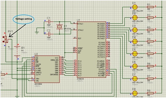 INTERFACING ADC 0804 with 8051 MICROCONTROLLER