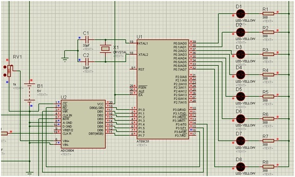 ADC interfacing with 8051 microcontroller zero voltage