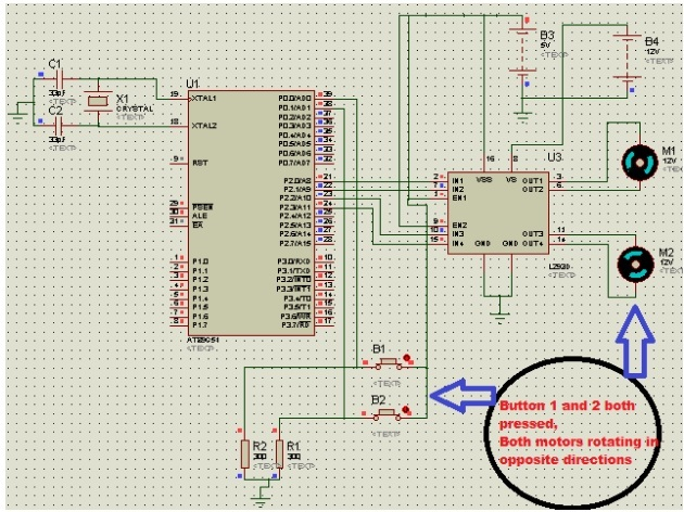 DC MOTOR INTERFACING WITH 8051 microcontroller