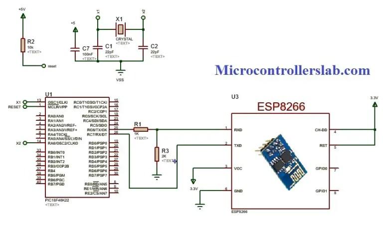 ESP8266 wifi module interfacing with pic microcontroller