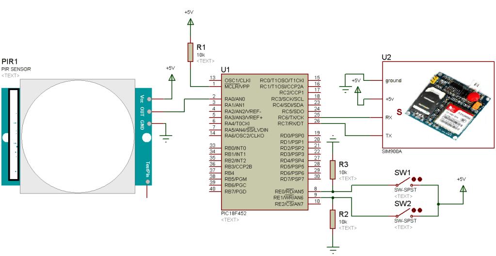 Security Alarm System Circuit