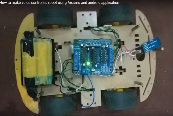Voice Controlled Robot using Arduino and voice recognition app