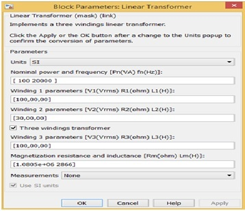 Forward Converter Design parameters setting simulink