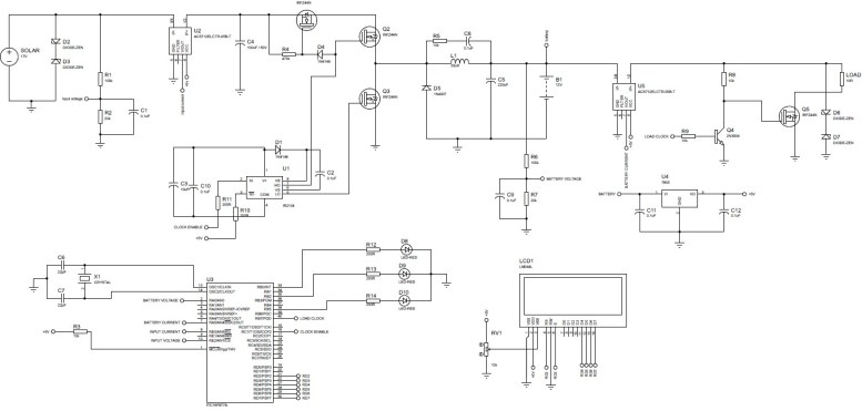MPPT Based Charge Controller circuit diagram