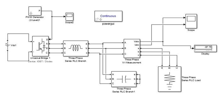 Three Phase Voltage Source Inverter simulink simulation