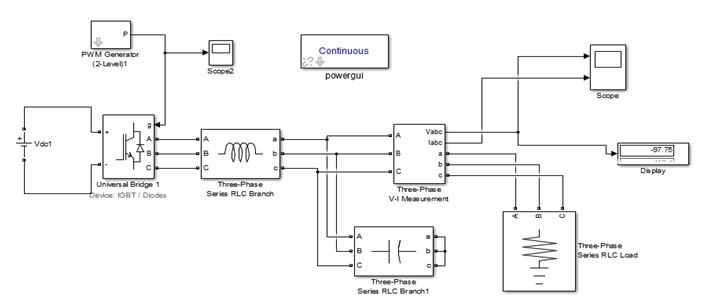 Simulink based Three Phase Voltage Source Inverter simulation