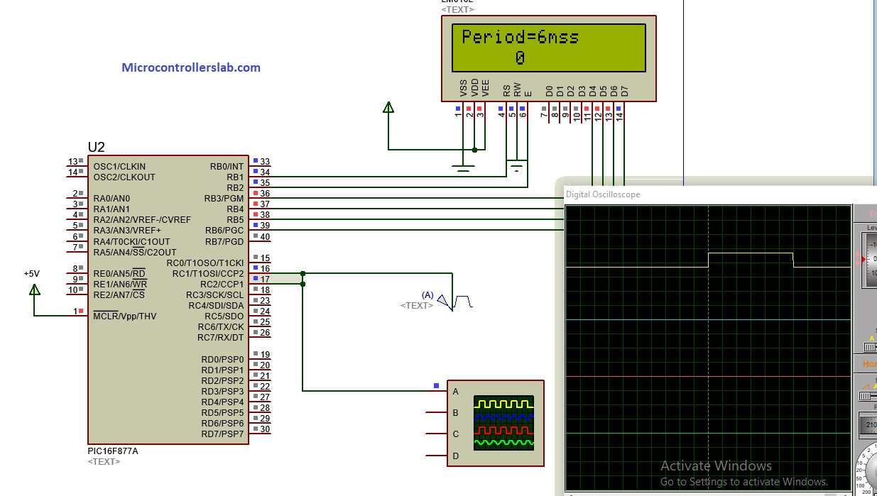 Pulse width measurement using pic microcontroller