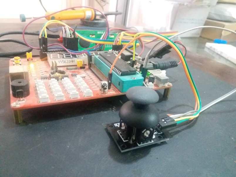 Joystick module interfacing pic16f877a