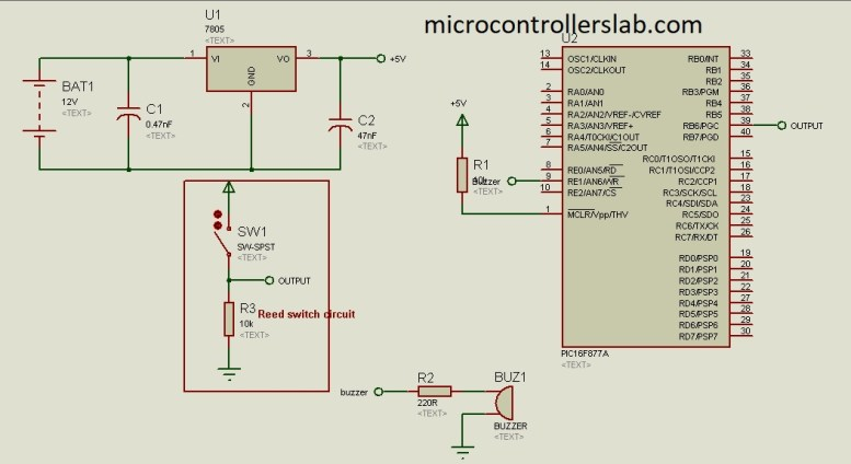 magnetic field detection using pic microcontroller