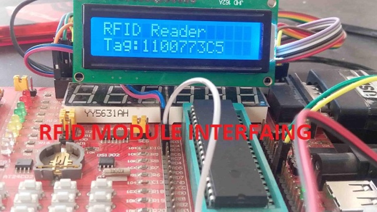 RFID reader RDM630 interfacing with pic microcontroller