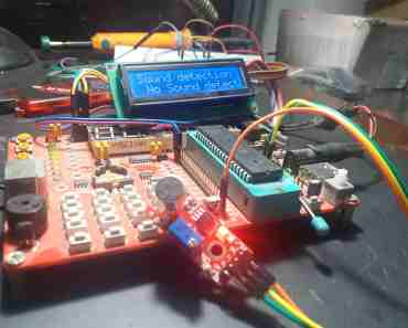 sound detection module interfacing with pic microcontroller
