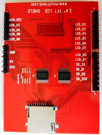 2.4 inch TFT LCD Display pinouts