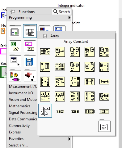 Arrays in labview