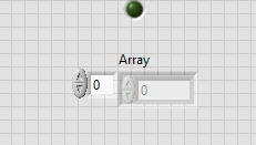 Arrayy indicator in labview