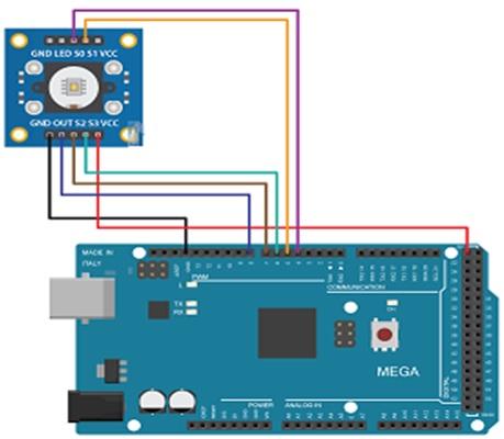 Color Sensor interfacing with Arduino