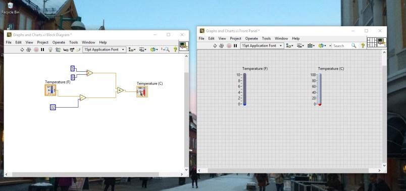Complete block diagram for scale conversion
