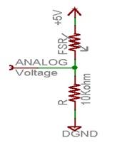 FSR 400 Force Sensing Resistor circuit interfacing for arduino