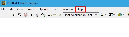 Help key in labview