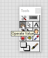 Manual operate value