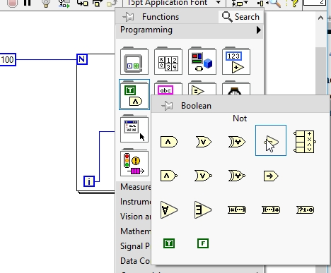 Not placement in labview