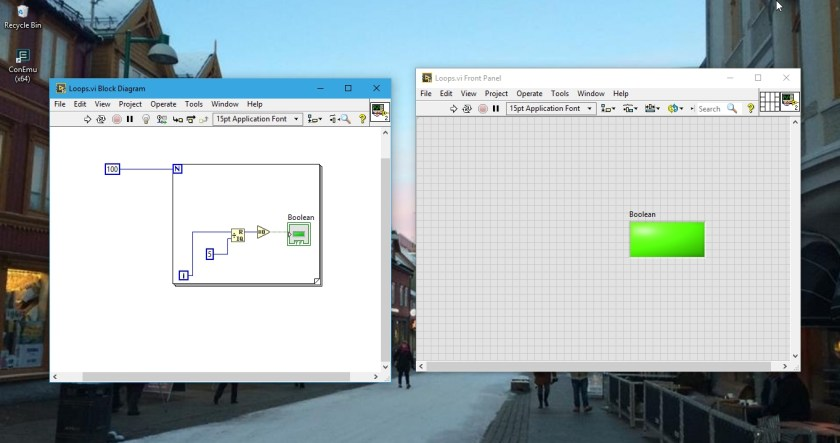 Wiring for loops labview