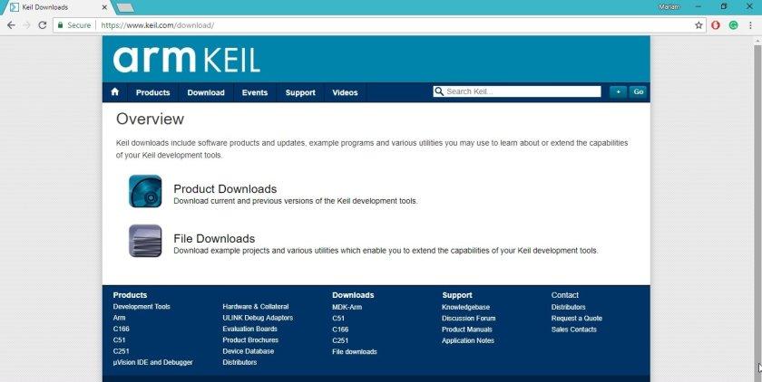 3 download page Keil IDE