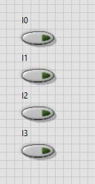 4x1 multiplexer design in labview: