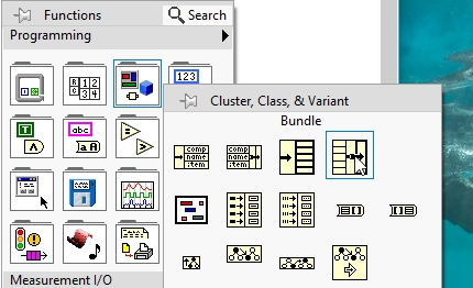 Bundle by name in labview