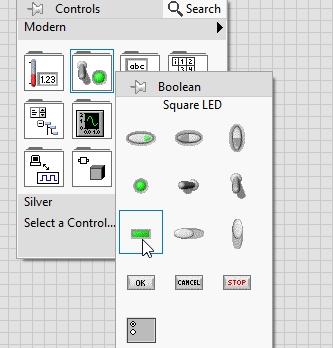 Seven segment display in labview