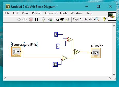 subVI block diagram labview
