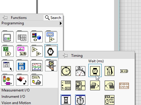 Labview LED control example with switch