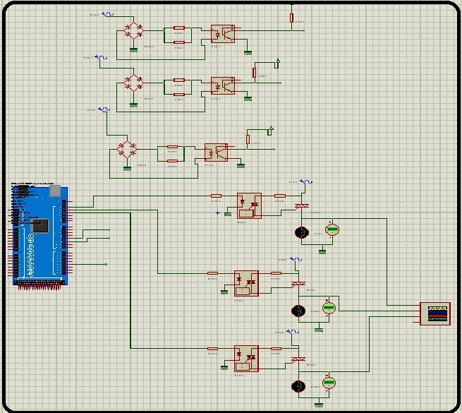 Soft starter for 3 phase induction motor using Arduino on