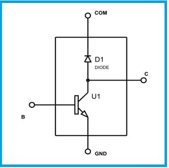 4 ULN2803 darlington pair circuit diagram