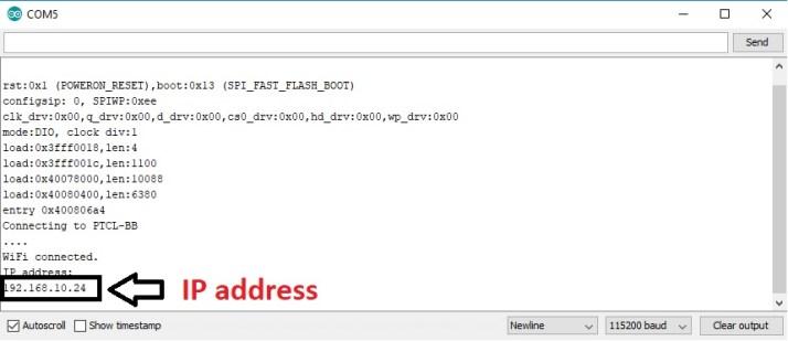 ESP32 password protected web server IP address