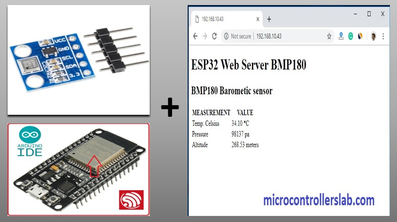 ESP32 BMP180 Web Server using Arduino IDE - Microcontrollers Lab