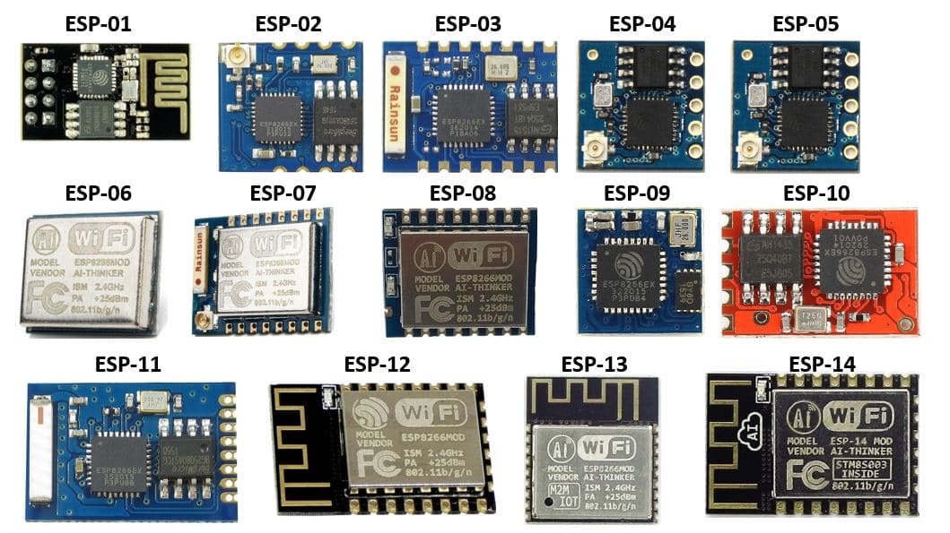 ESP8266 Modules pinout and GPIO pins